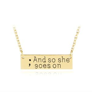Jewelry - And So She Goes On Inspirational Gold Necklace